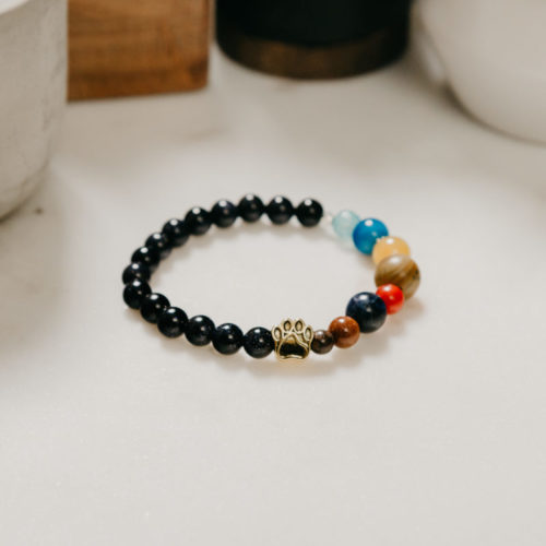 """My Cat is the Center of My Universe"" Natural Stone Bracelet: Feeds 4 Shelter Cats"
