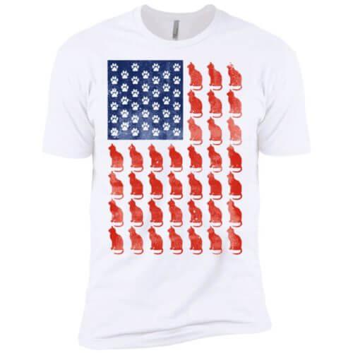 Red Cat Blue Paw Premium T-Shirt
