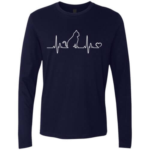 Cat Heartbeat Premium Long Sleeve Tee