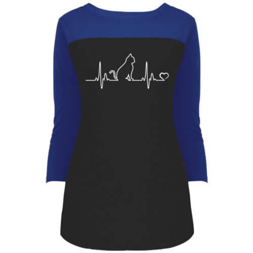 Cat Heartbeat Rally 3/4 Sleeve Shirt