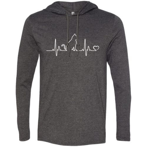 Cat Heartbeat Lightweight T-Shirt Hoodie