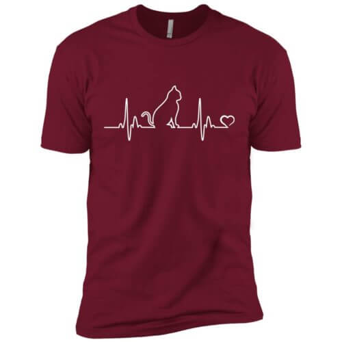 Cat Heartbeat Premium Tee