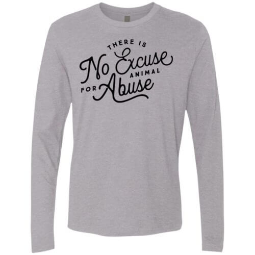 No Excuse For Abuse Premium Long Sleeve Tee