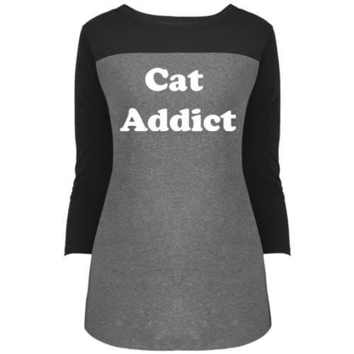 Cat Addict Rally 3/4 Sleeve Shirt