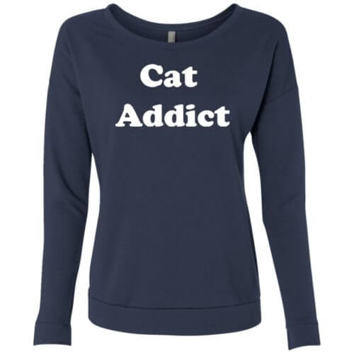 Cat Addict Premium Scoop Neck Sweatshirt