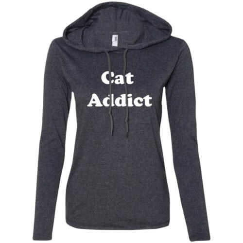 Cat Addict Fitted T-Shirt Hoodie