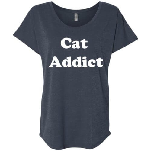 Cat Addict Slouchy Tee