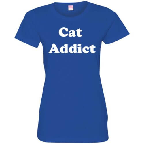 Cat Addict Fitted Tee