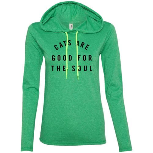 Cats Are Good Ladies' Lightweight T-Shirt Hoodie