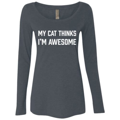 I'm Awesome Fitted Scoop Neck Long Sleeve