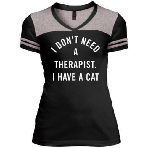I Don't Need A Therapist Varsity V-Neck T-Shirt