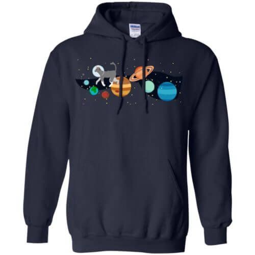 Space Traveler Cat Pullover Hoodie