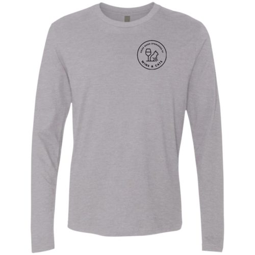 Sponsored By Wine Button Premium Long Sleeve Tee