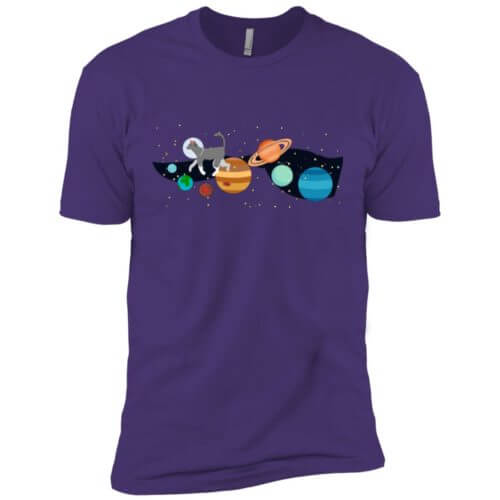 Space Traveler Cat Premium T-Shirt