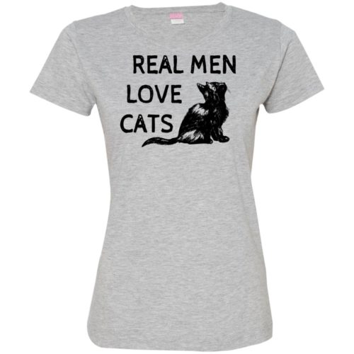 Real Men Love Cats Fitted Tee