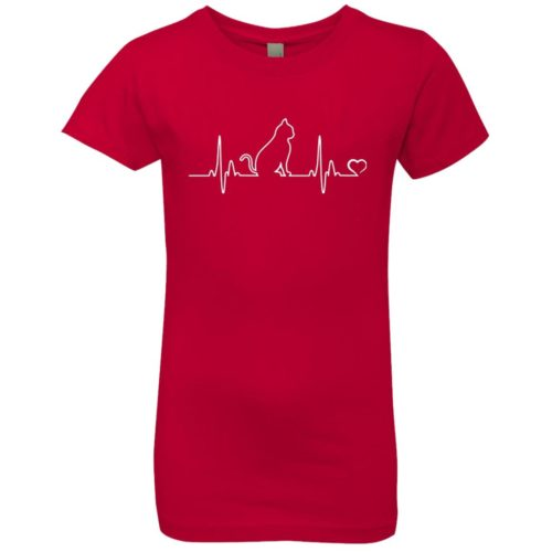 Cat Heartbeat Girls' Premium Tee