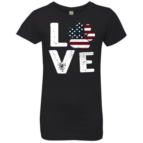 Love Paw USA Girls' Premium Tee