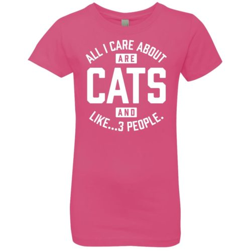 Cats And 3 People Girls' Premium Tee