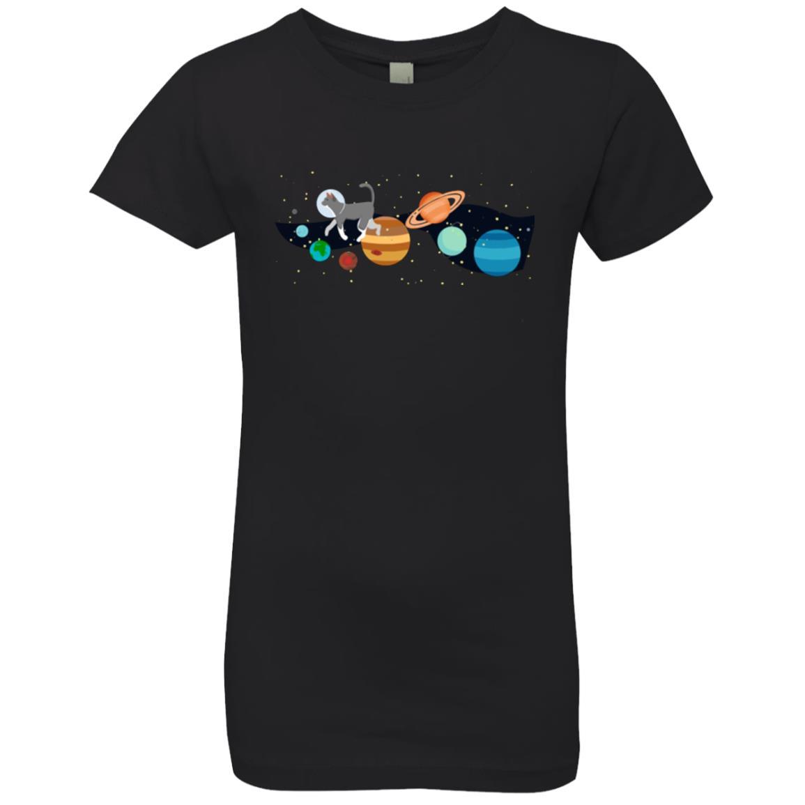 Space Traveler Cat Girls' Premium T-Shirt - iHeartCats.com