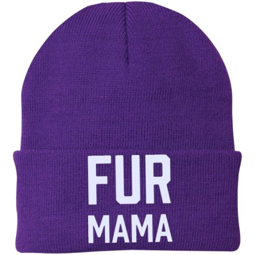 Fur Mama Embroidered Knit Cap