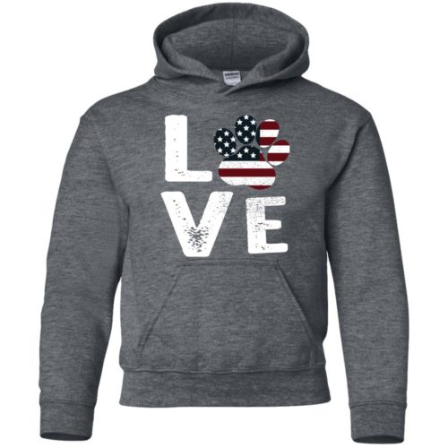 Love Paw USA Youth Pullover Hoodie