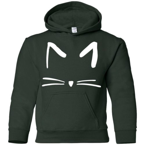 Cat Sketch Embroidered Youth Pullover Hoodie