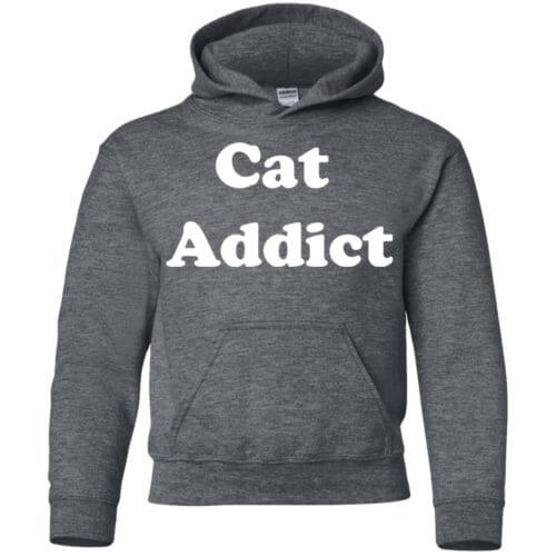 Cat Addict Youth Pullover Hoodie