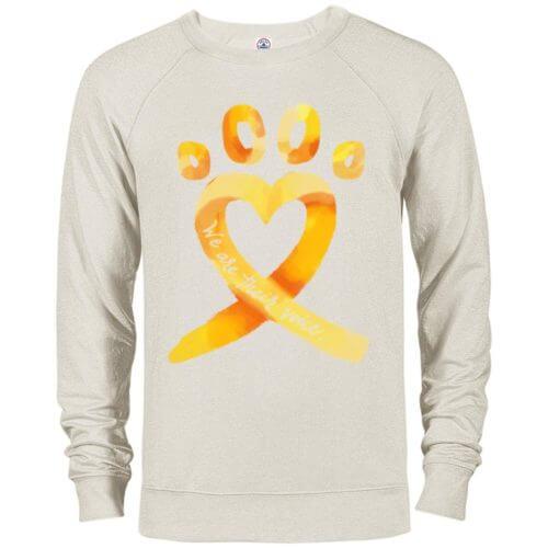 Animal Cruelty Ribbon Premium Crew Neck Sweatshirt