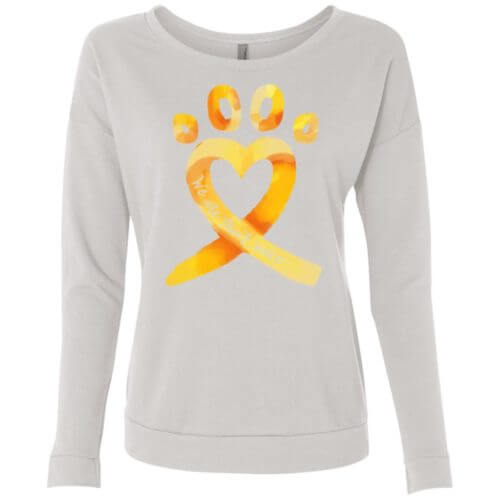 Animal Cruelty Ribbon Scoop Neck Sweatshirt