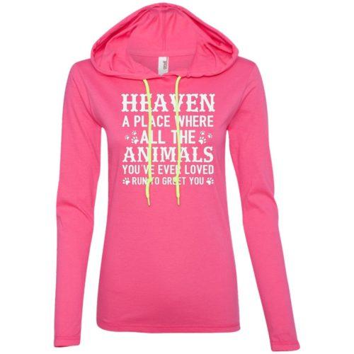Heaven Ladies' Lightweight T-Shirt Hoodie