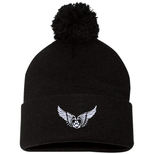 Second Chance Logo Embroidered Pom Pom Knit Cap