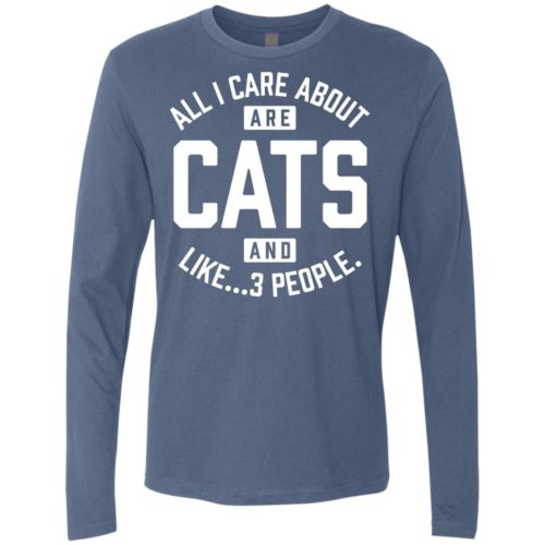Cats and 3 People Premium Long Sleeve Tee