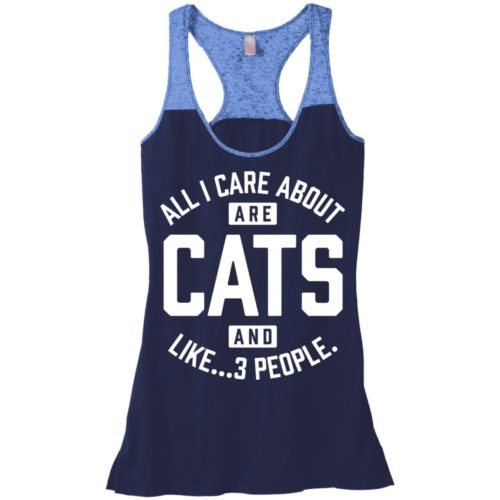 Cats and 3 People Varsity Tank