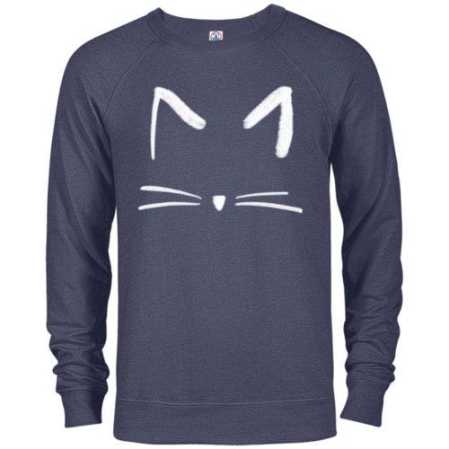 Cat Sketch Premium Crew Neck Sweatshirt
