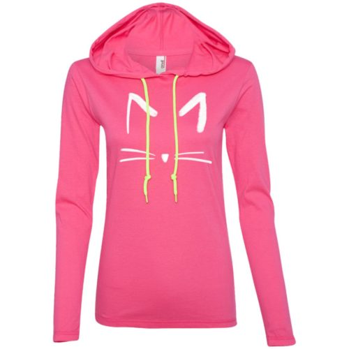 Cat Sketch Ladies' Lightweight T-Shirt Hoodie