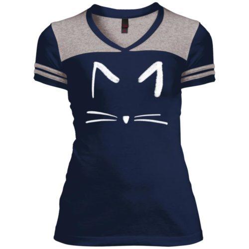 Cat Sketch Varsity V-Neck T-Shirt
