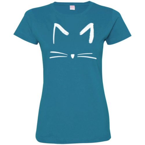 Cat Sketch Fitted Tee