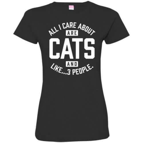 Cats and 3 People Fitted Tee