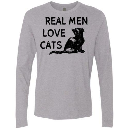 Real Men Love Cats Premium Long Sleeve Tee