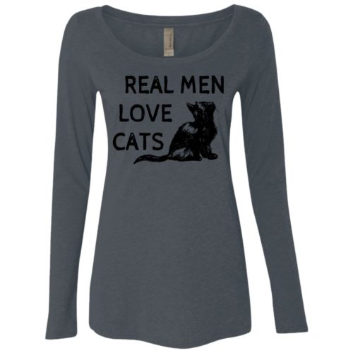 Real Men Love Cats Fitted Scoop Neck Long Sleeve
