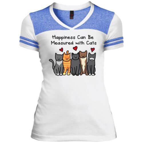Happiness Varsity V-Neck T-Shirt