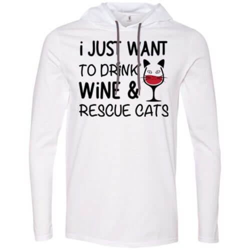 Drink Wine & Rescue Cats T-Shirt Hoodie