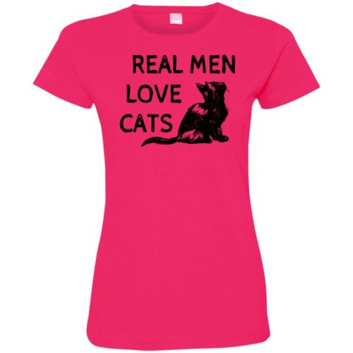 Real Men Love Cats Ladies' Premium T-Shirt