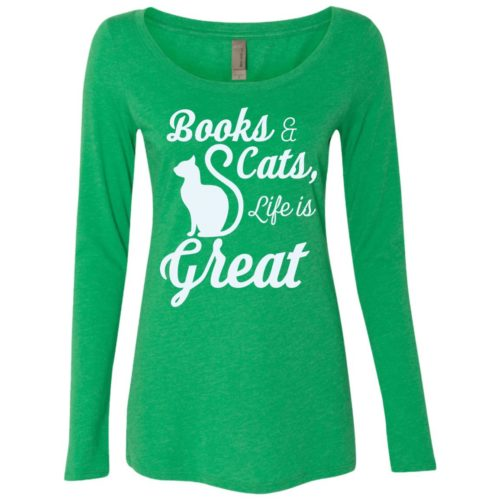 Life Is Great Ladies' Scoop Neck Long Sleeve Shirt