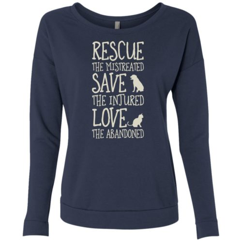 Rescue Them Scoop Neck Sweatshirt