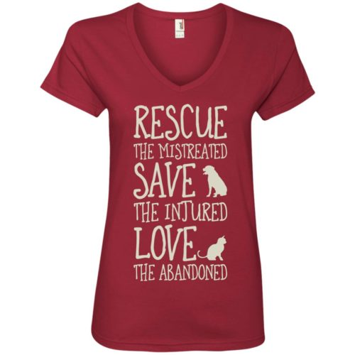 Rescue Them Ladies' Premium V-Neck