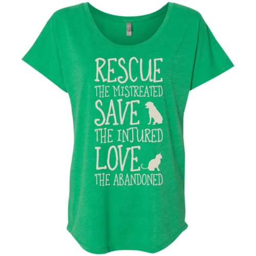 Rescue Them Ladies' Slouchy T-Shirt