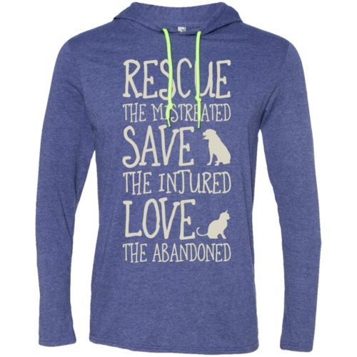 Rescue Them Lightweight T-Shirt Hoodie