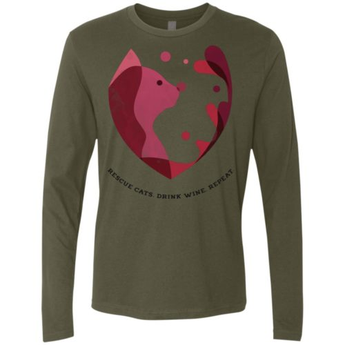 Cat Wine Splash Premium Long Sleeve Tee