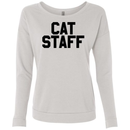 Cat Staff Scoop Neck Sweatshirt